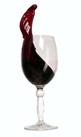 Nice glass with wine like a wave photo