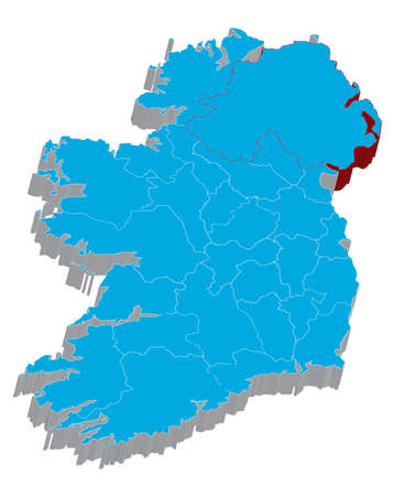 There is a map of Ireland country Stock Photo - 6371899