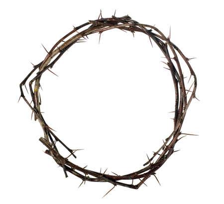 doornenkroon: Kroon van hout met thorns, foltering concept