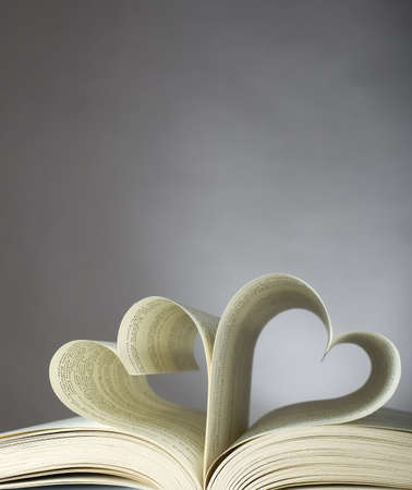 Book with opened pages and shape of heart Stock Photo - 6995809