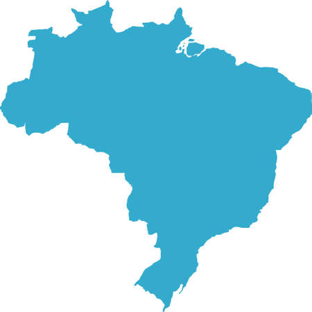 There is a map of Brazil country Stock Photo