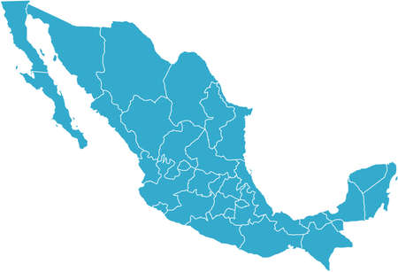 There is a map of Mexico country Stock Photo