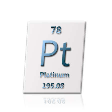 There is a chemical element Platinum with all informatin about it photo