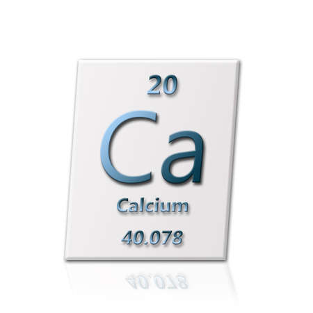 There is a chemical element calcium with all information about it photo