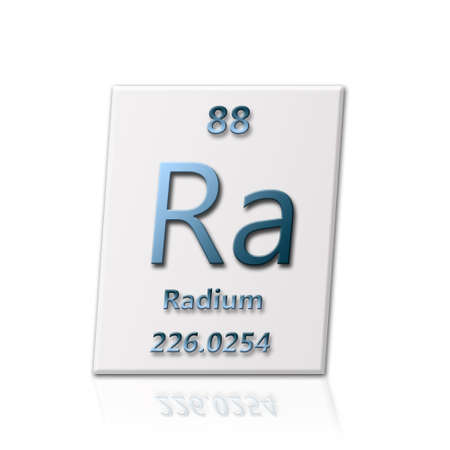 radium: There is a chemical element radium with all information about it Stock Photo