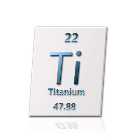 There is a chemical element titanium with all information about it photo