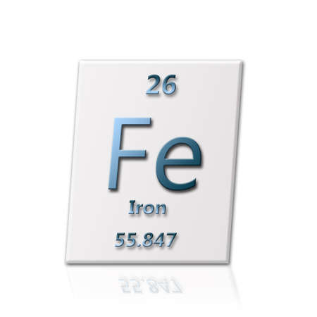 There Is A Chemical Element Iron With All Information About It Stock
