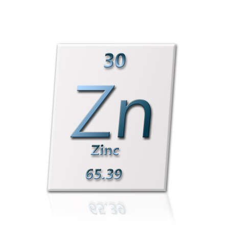There is a chemical element zinc with all information about it photo