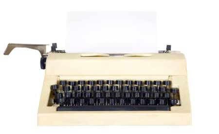 Old antique white typewriter with black keys Stock Photo - 8725479