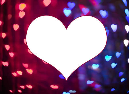 Photo in various colors and heart shape, valentine day photo