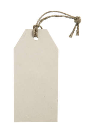 Place for writing made from grey paper label with brown string Stock Photo - 10037333