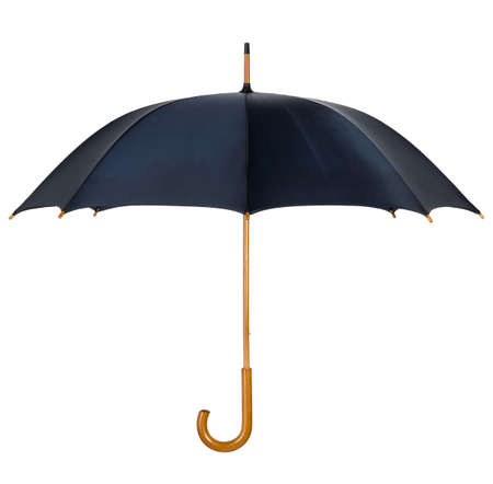 Black umbrella with wooden shank and handle Stock Photo - 10190515