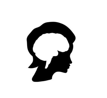 Inside a head of woman, brain concept Stock Vector - 10920268