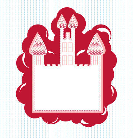There is a greeting card with castle Stock Vector - 14576125