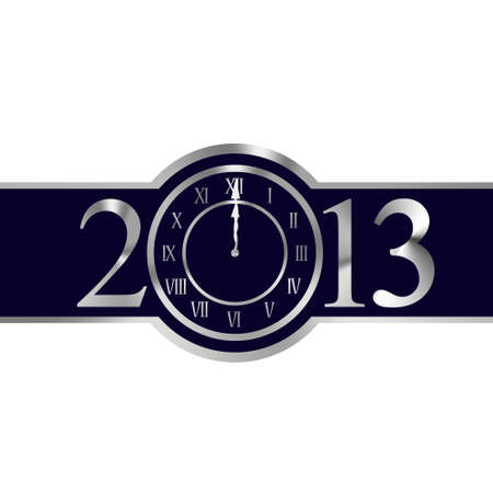 New year 2013 with clock instead number zero Stock Photo - 16906071