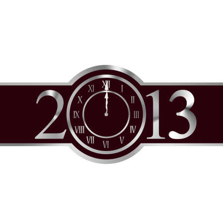 New year 2013 with clock instead number zero photo