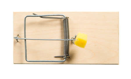 A mouse trap with cheese on it photo