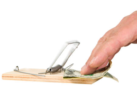 A mouse trap with money on it Stock Photo - 17728730