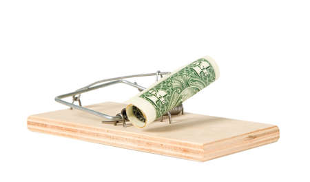 trap: A mouse trap with money on it Stock Photo