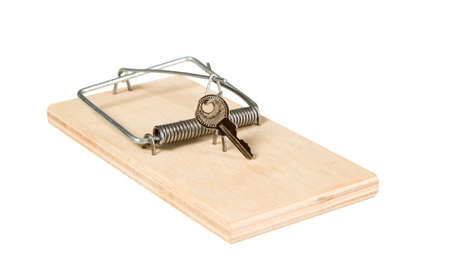 A mouse trap with keys on it photo