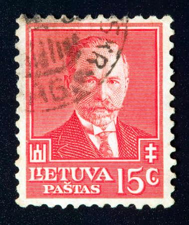 rarity: LITHUANIA - CIRCA 1934: stamp printed by Lithuania and shows president Antanas Smetona, circa 1934