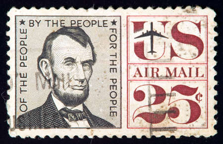 USA - CIRCA 1950: stamp printed by USA and shows Lincoln, circa 1950