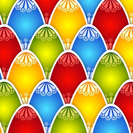 Colorful texture of eggs for Easter holiday congratulations, cards Vector