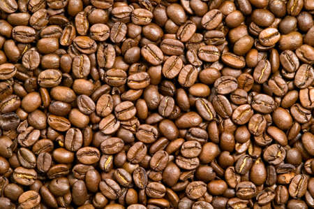 coffee grains: Brown background of coffee beans, drink concept