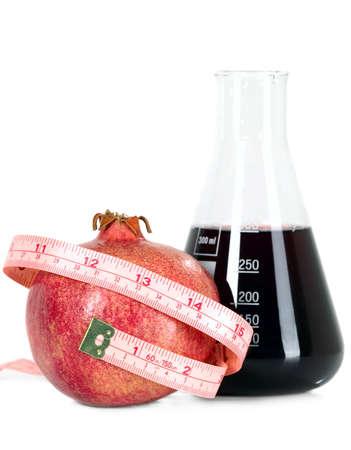 tasteful: Red tasteful fruit garnet with measuring tape