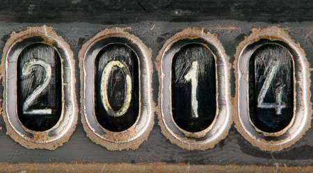New year 2014 concept made from metal numbers photo
