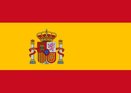 スペイン、ヨーロッパ、ベクター グラフィックのきれいな旗