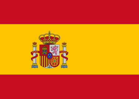 Clean flag of Spain, Europe, vector illustration