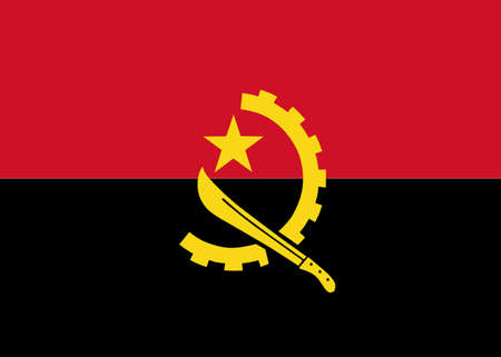 angola: Clean flag of Angola, Africa, vector illustration