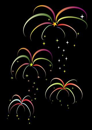Colourful Firework Vector