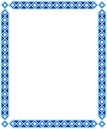 annoucement: Blue Color Frame