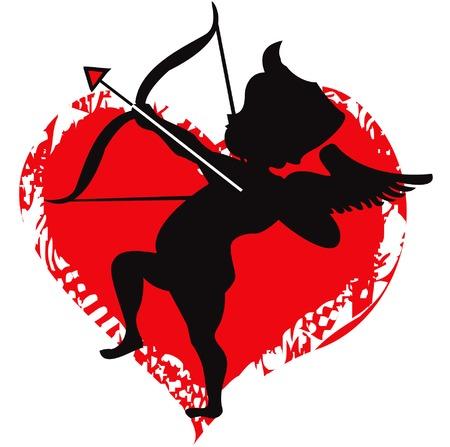 Met Cupid Love Vector Illustratie