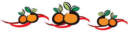 Chino mandarín naranja para la Celebración del Año Nuevo Chino con la cinta de fondo