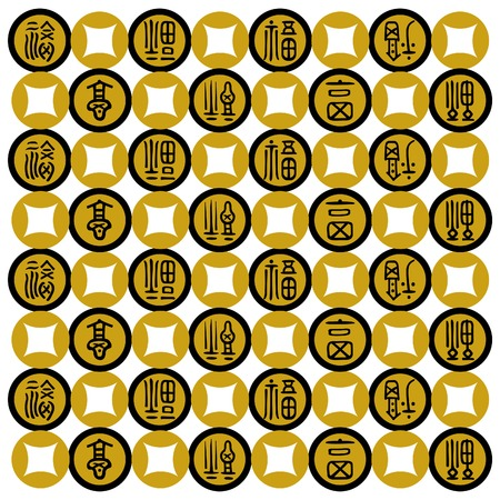 Gold Prosperity with Coin Illustration