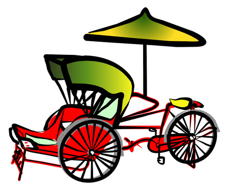 trishaw: Malaysia Penang Trishaw