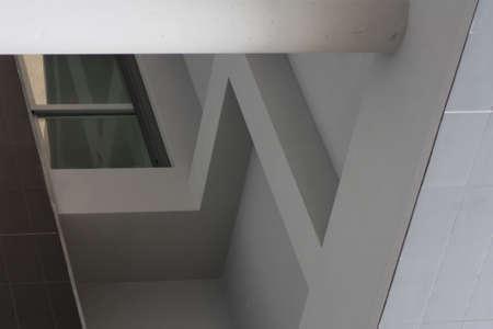 urban street building details and geometry details 写真素材