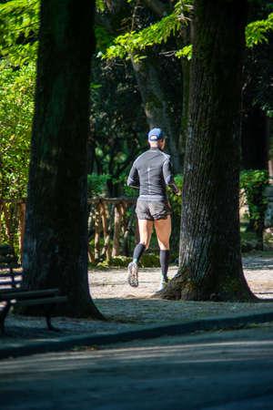 man running at the park
