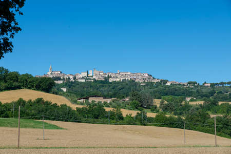 landscape of the country of todi seen from the highway exit