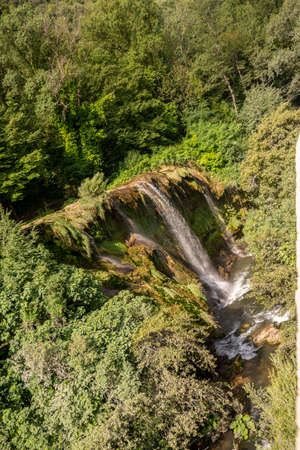 marmore waterfall the highest in europe Banque d'images