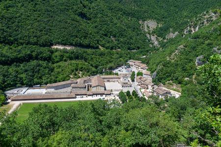 Rocca Porena landscape seen from the rock sanctuary Reklamní fotografie