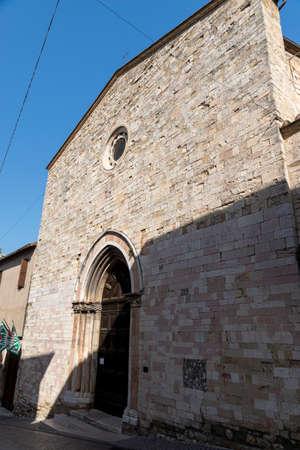 Church of SantAgostino in the center of Montefalco