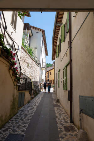 Architecture of alleys and rifici of the country of Rasiglia