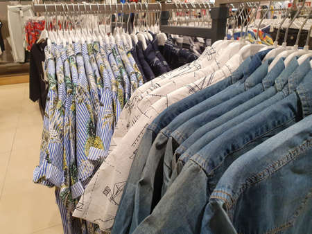 items of clothing displayed in the store during sales periods