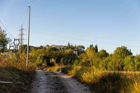 landscape of the town of Collescipoli