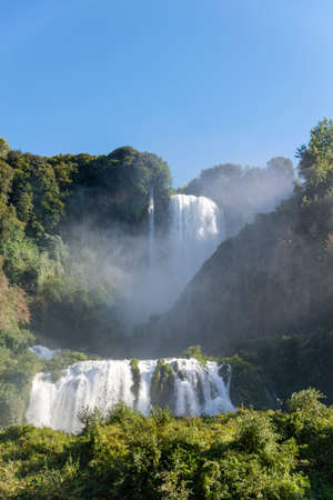 waterfall of marmore in terni the highest in europe