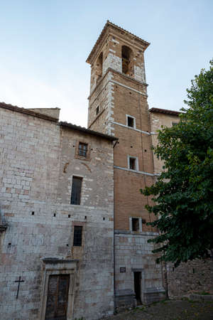 stroncone, italy september 11 2020: church of San Nicola in the town of Stroncone 写真素材
